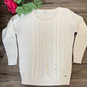 Cable knit off-white Garage Sweater